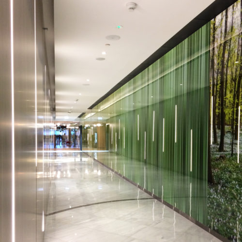 Wroclavia commercial center mural panels (spring) – Wroclaw